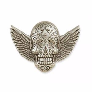 Concho Sugar Skull Ailé - Nickel Free - 38 x 29 mm [71512-04]