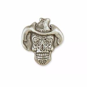 Concho Sugar Skull Cowboy - Nickel Free - 30 x 29 mm [71512-02]