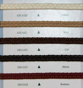 Double Tresse - Simili Cuir -  Naturel, Beige, Cuir, Marron, Bordeaux