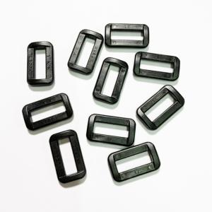 Anneau Rectangle - 20 x 07 mm - YKK - Noir- Lot de 10