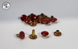 Rivet - Diamètre 10 mm - Double Calotte Couleur Rouge